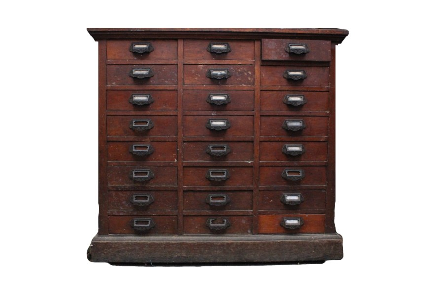 Vintage Wooden Apothecary Cabinet  EBTH