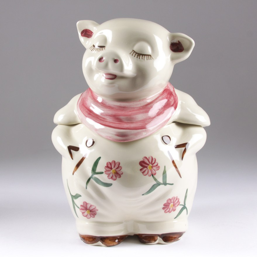Vintage Shawnee Pottery Smiley Pig Cookie Jar Ebth