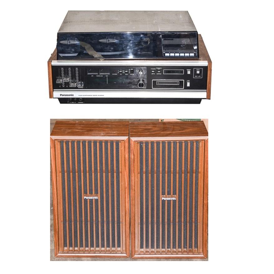 vintage panasonic audio entertainment