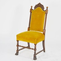 Antique William and Mary Style High Back Chair : EBTH