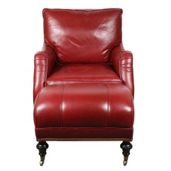 Red Leather Chair And Ottoman Kids Ghost By Mckinley Ebth
