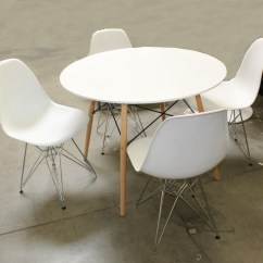 Eames Style Plastic Chair Swing Nilai Dining Table And Molded Chairs Ebth