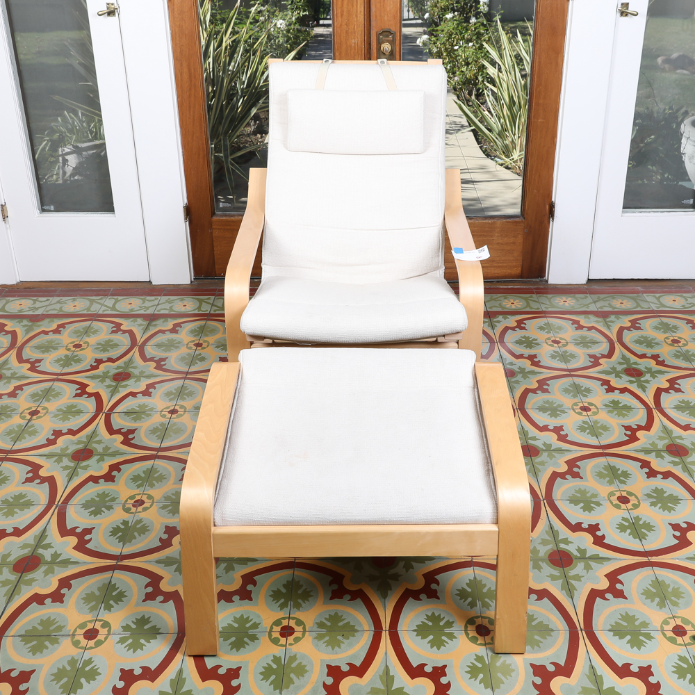 ikea lounge chair diy hammock bentwood and ottoman by ebth