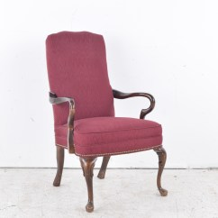 Pembrook Chair Corp Wholesale Covers 1990s Queen Anne Style Gooseneck Armchair Ebth