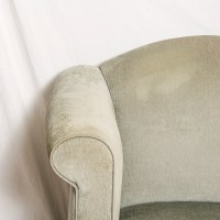 Queen Anne Style Lounge Chair and Ottoman : EBTH