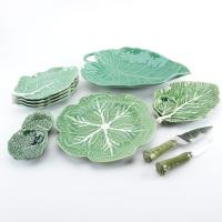 Bordallo Pinheiro Majolica Cabbage Leaf Dinnerware : EBTH