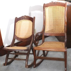 Antique Wooden Rocking Chairs Loveseat And Chair Vintage Ebth