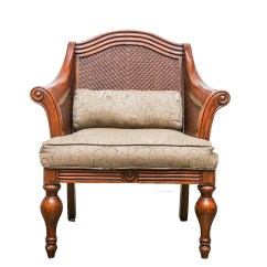 British Colonial Chair Wheel Bed Style Armchair Ebth