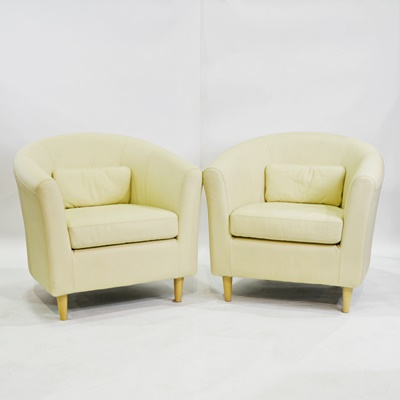 Kuliwood And Leather Chairs By Ashley EBTH
