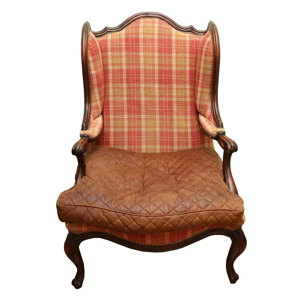 country style wingback chairs papasan chair ottoman english ebth
