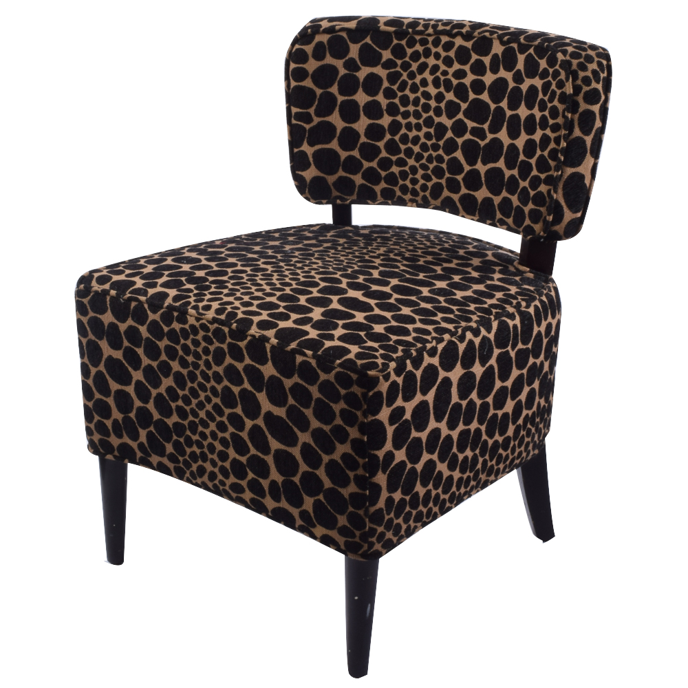 giraffe print chair foldable dining chairs accent from pier 1 ebth