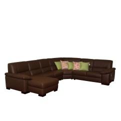 Corey Chocolate Brown Sectional Sofa Diwan Set Price Italsofa Leather Ebth