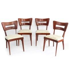 Heywood Wakefield Dogbone Chairs Wooden Rocking Chair Plans Set Of Four Mid Century Modern Dog Bone Dining Ebth