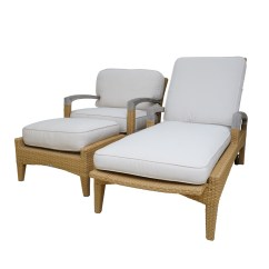 Outdoor Chaise Lounge Chair With Ottoman Deck Chairs Asda Gloster Patio Armchair And Ebth