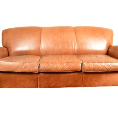 Leather Sofa Like Pottery Barn Microfiber Suede By Mitchell Gold Ebth