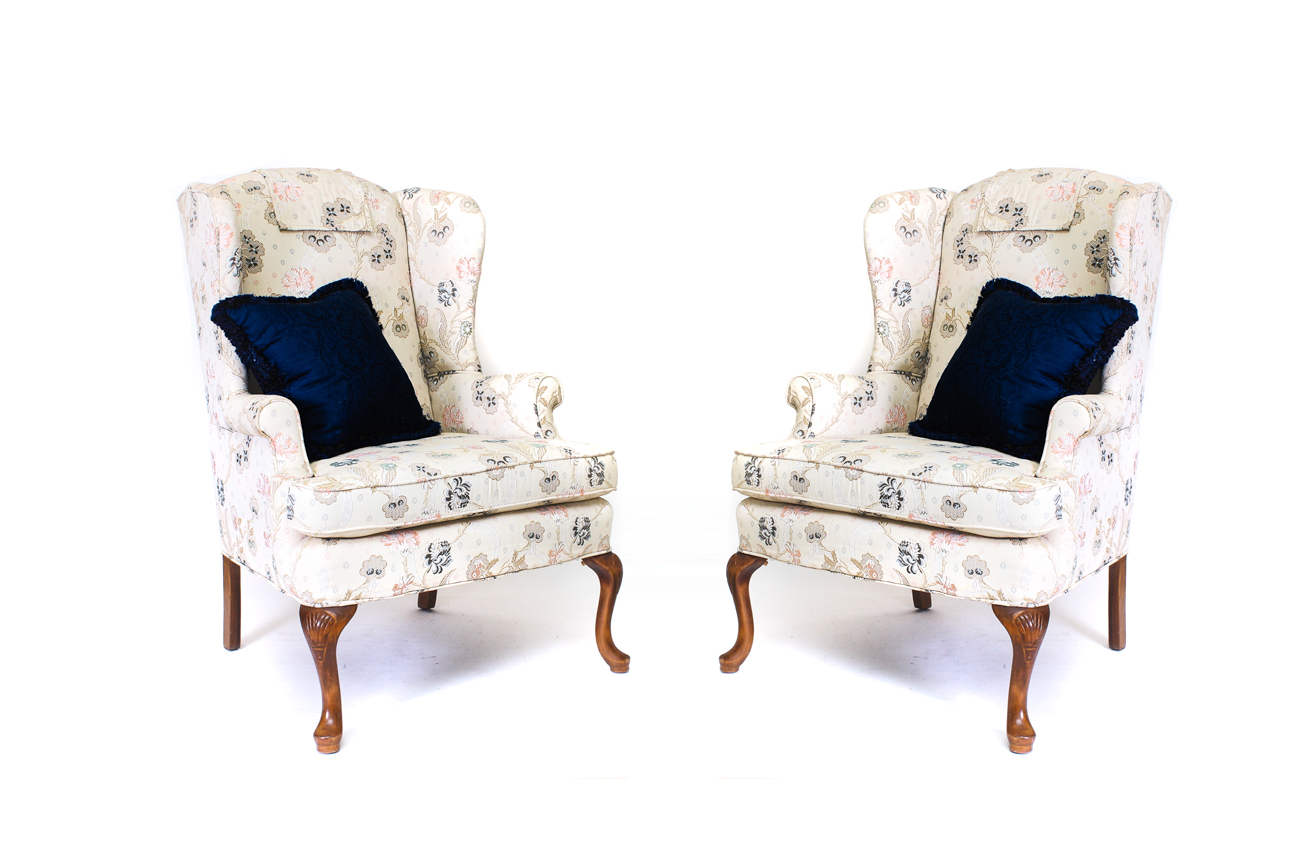 pembrook chair corp wingback rocking pair of chairs by company ebth