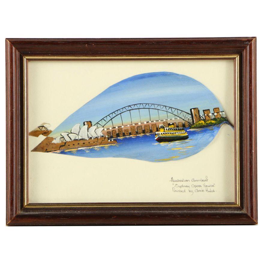 Corrie Hulsk Oil Painting On Gumleaf Sydney Opera House