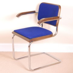 Marcel Breuer Cesca Chair With Armrests Big And Tall Lawn Chairs Mid Century Modern By Thonet Ebth