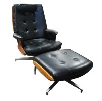 Vintage Mid Century Modern Lounge Chair and Ottoman by ...