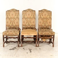 Vintage Upholstered Louis XIII Style Dining Chairs : EBTH