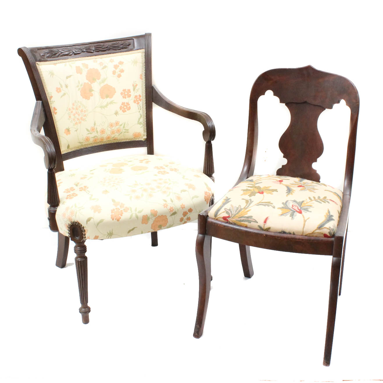 wood frame accent chairs quentin wheelchair vintage framed ebth