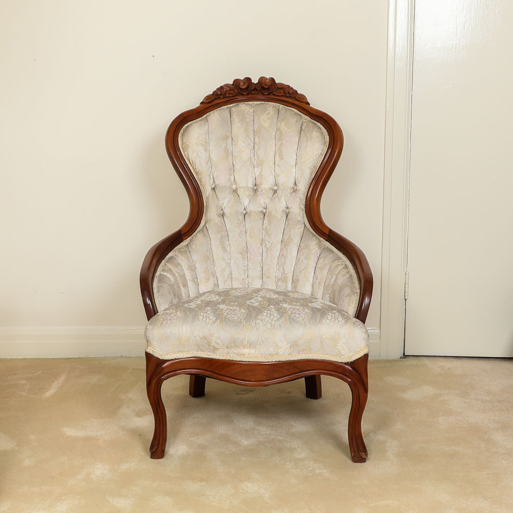 eastlake victorian parlor chairs kitchen for sale antique upholstered and carved chair ebth