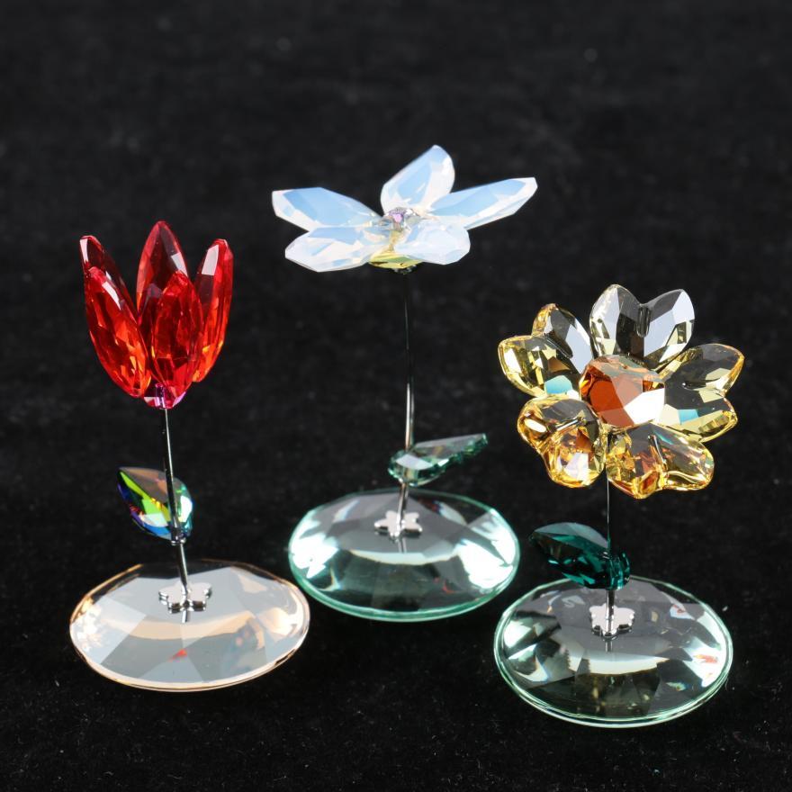 ee53bd74f Retired Swarovski Crystal Flower Figurines | Gardening: Flower and ...
