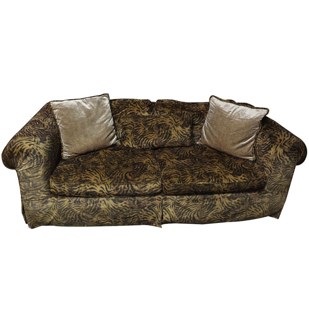 animal print sofas sofa beds queen size contemporary ebth