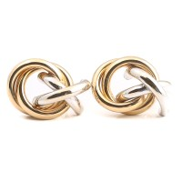 """14K Yellow and White Gold """"X"""" and """"O"""" Earrings : EBTH"""