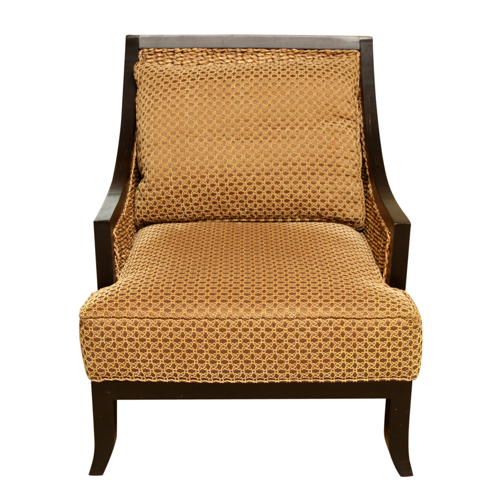 seagrass arm chair steel on gem woven and wood armchair by miles talbott ebth