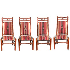 Southwest Dining Chairs Hanging Chair Menards Set Of Style Old Hickory Rustic Ebth