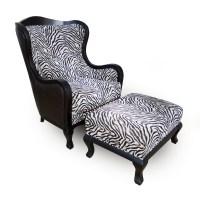 Zebra Print Wingback Chair - Frasesdeconquista.com