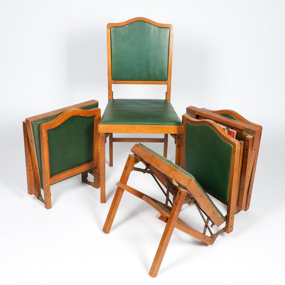 folding chair legs herman miller office alternative vintage leg o matic wooden chairs ebth