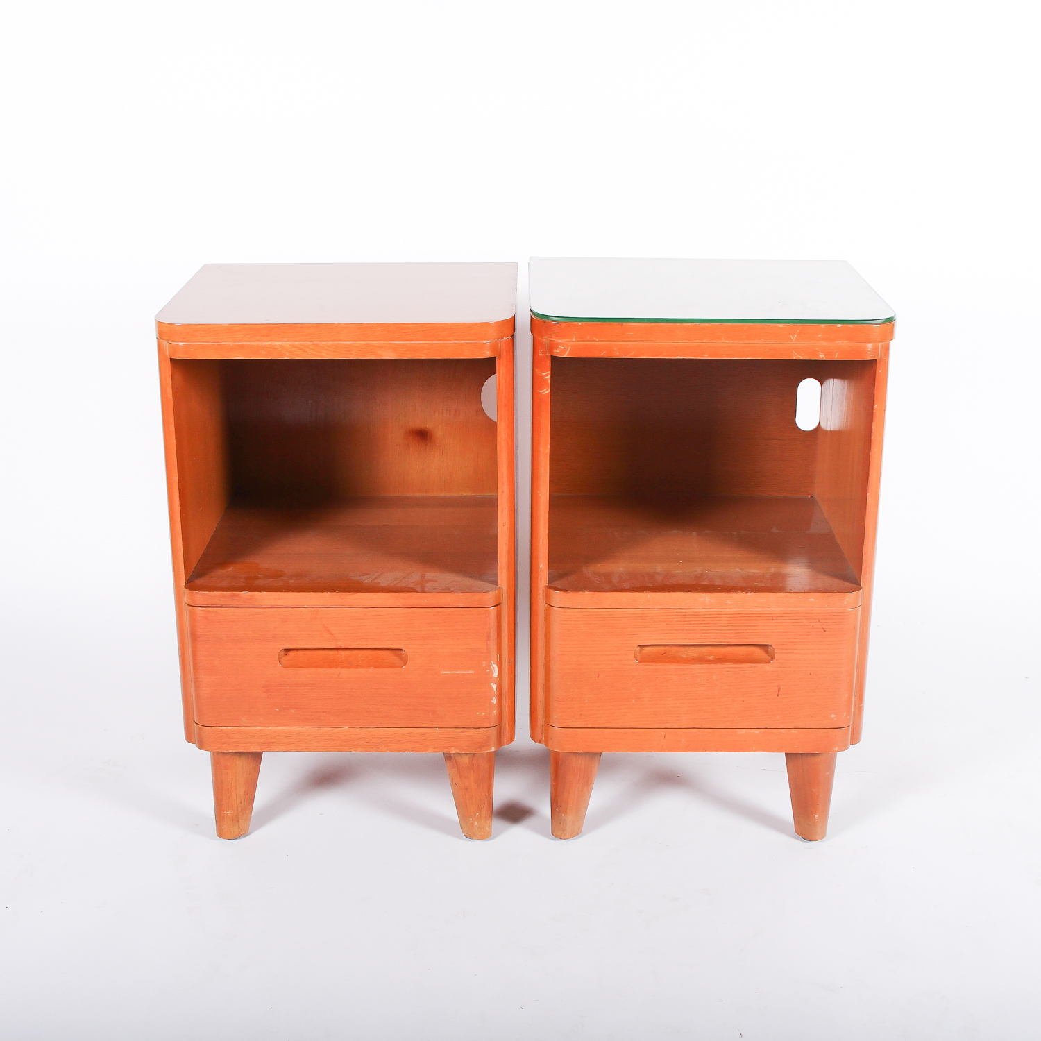 huntington chair corporation ikea wing chairs mid century modern style nightstand pair by ebth