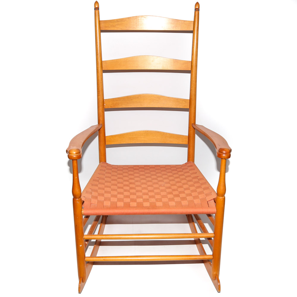 shaker ladder back chair desk covers amazon style ladderback rocking by limited ebth