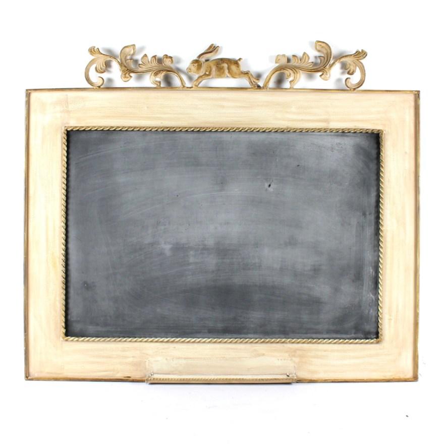 decorative chalkboard with metal