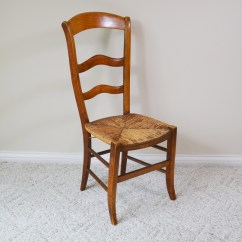 Antique Ladder Back Chairs With Rush Seats World Market Adirondack Chair Covers Seat Ebth