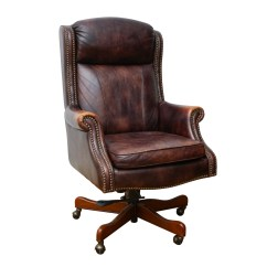 Leather Executive Office Chair Htt Massage Brown By Seven Seas Seating Ebth