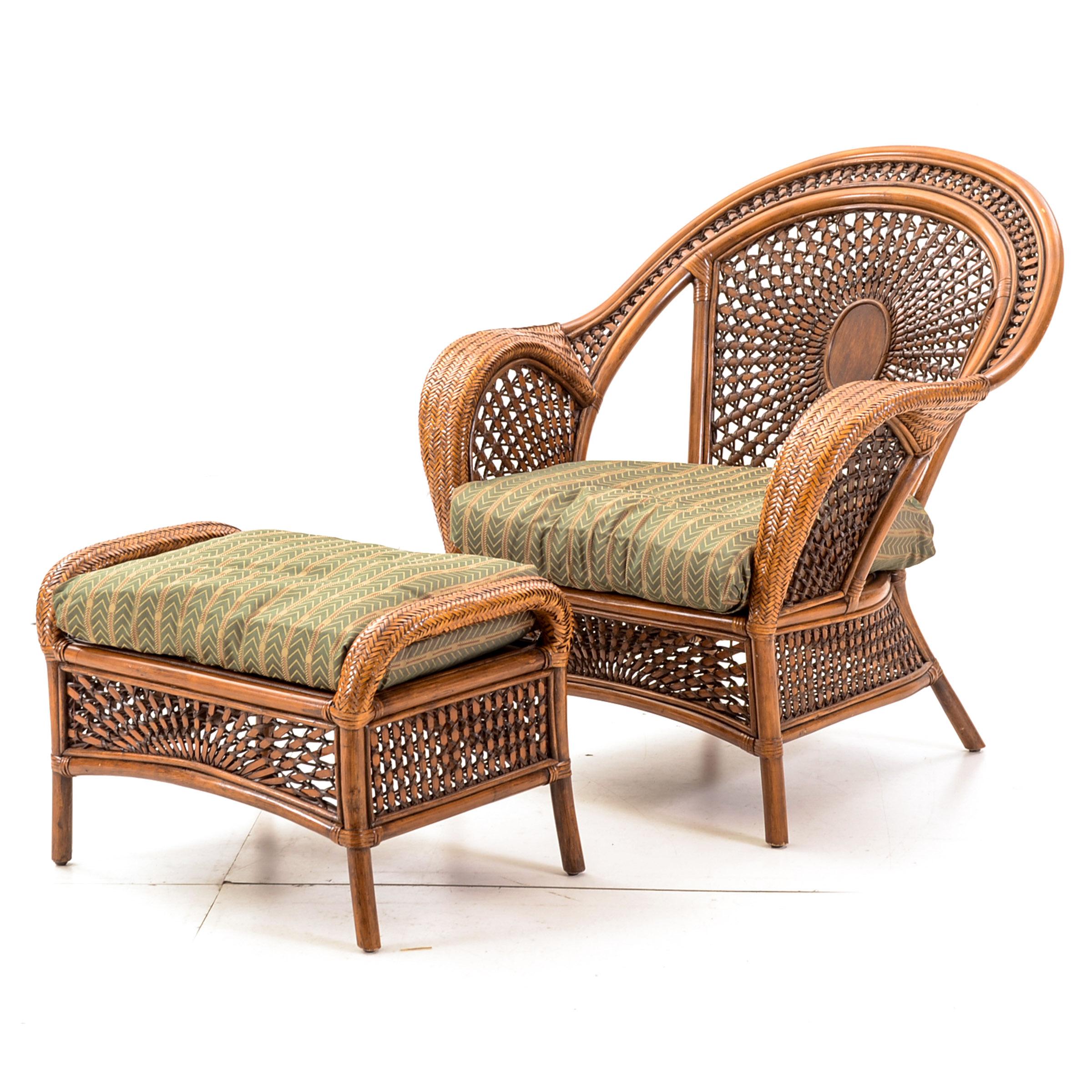 pier one rattan chair ergonomic home office wicker with ottoman ebth