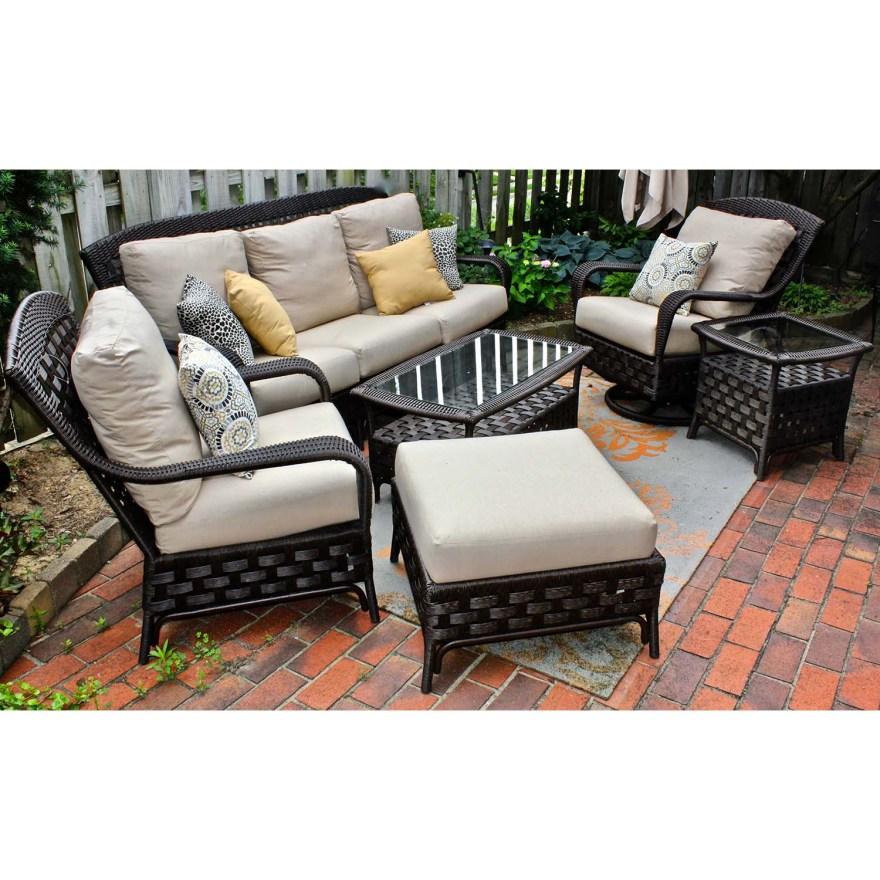 "Sunbrella Outdoor -weather ""wicker"" Patio Furniture Set"