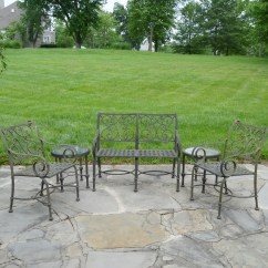 Two Seat Lawn Chairs Public Seating Cast Classics Inc Aluminum Patio Bench And Tables Ebth