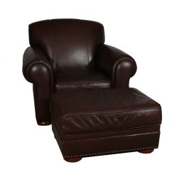 Dark Brown Leather Chair Wholesale Folding Chairs And Ottoman Ebth