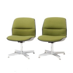 Allsteel Task Chair Lime Green Pair Of All Steel Office Chairs Ebth