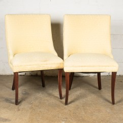 Yellow Upholstered Accent Chair Parsons Chairs Pale Ebth