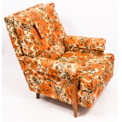 Floral Upholstered Chair Poang Covers Australia Vintage Mid Century Armchair By Norwalk Furniture Ebth