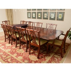 Maitland Smith Dining Chairs Chair Covers And Bows Ltd Vintage Chippendale Style Mahogany Table With By Ebth