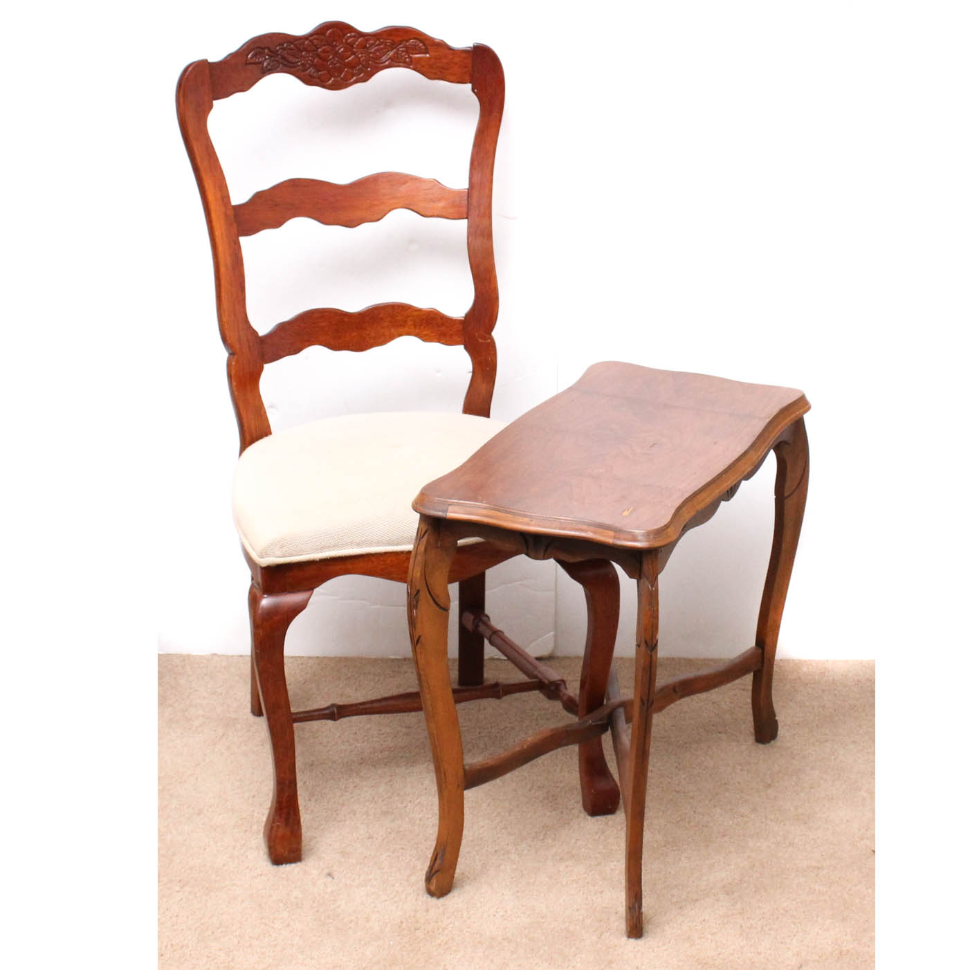 vintage wooden chairs toddler table and set chair accent ebth