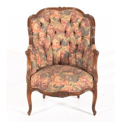 Floral Arm Chair Patriots Bean Bag Vintage French Provincial Style Upholstered Armchair Ebth