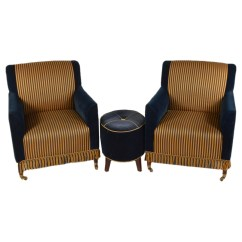 Navy Blue Velvet Club Chair Cheap Patio Gold And Chairs With Ottoman Ebth