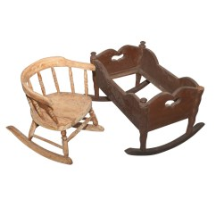 Rocking Chair Cradle How To Make An Adirondack Doll And Child S Early 20th Century Ebth